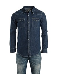 LEE Slim Western Shirt Mid Stone