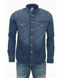 LEE Western Shirt Blue Stance