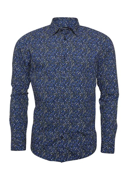SELECTED SLHSlimiron Shirt LS AOP B