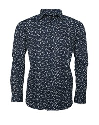 SELECTED SLHRegpen-Dunn Shirt AOP Noos